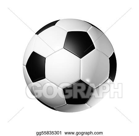 003575c49b0 Stock Illustration - Soccer football ball. Clip Art gg55835301 - GoGraph