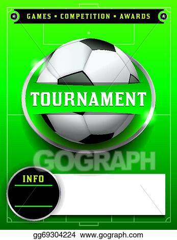 Vector art soccer football tournament template illustration soccer football tournament template illustration maxwellsz