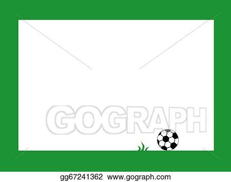 Stock Illustration - Soccer frame. Clip Art gg67241362 - GoGraph