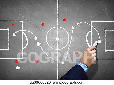 Clipart - Soccer game strategy  Stock Illustration