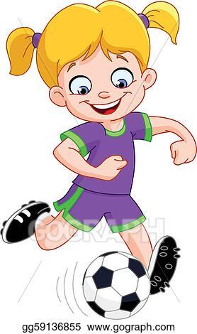 vector art soccer girl clipart drawing gg59136855 gograph rh gograph com girl soccer goalie clipart soccer ball girl clipart