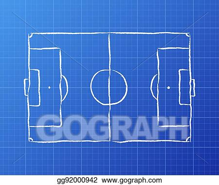 soccer pitch blueprint_gg92000942 clip art vector soccer pitch blueprint stock eps gg92000942 gograph