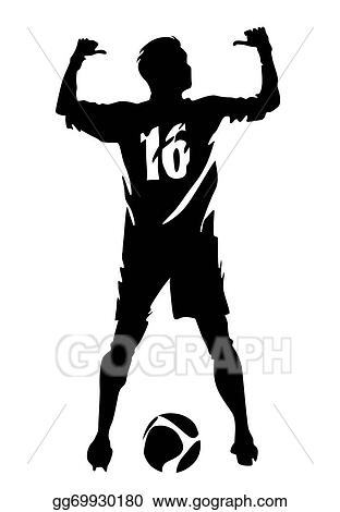Vector Stock Soccer Player Vector Silhouette Stock Clip Art