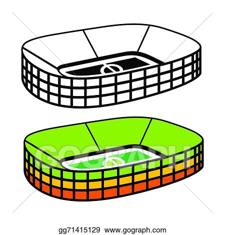 vector art soccer stadium vector sign clipart drawing gg71415129 rh gograph com soccer field with players clipart