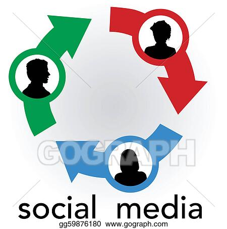 clip art vector social media arrows connect people network stock rh gograph com network clipart networking clipart png