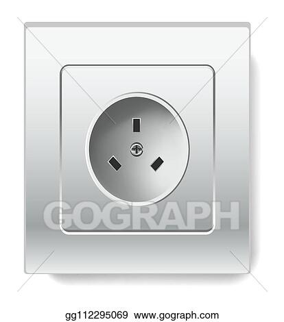 EPS Vector - Socket isolated electric item house wiring and electricity.  Stock Clipart Illustration gg112295069 - GoGraphGoGraph