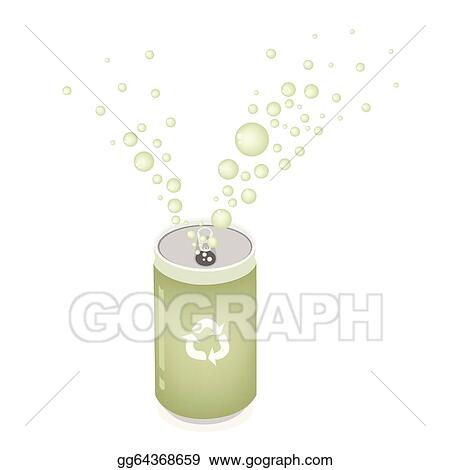 Vector Art Soda Can With Recycle Symbol For Save The Green World