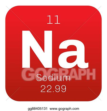 eps illustration sodium chemical element vector clipart