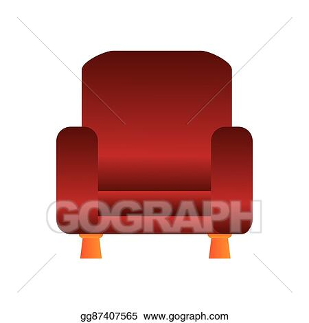 Vector Art Sofa Chair Icon Clipart Drawing Gg87407565