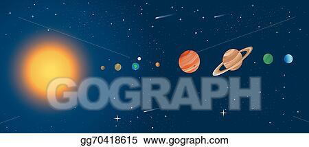 Vector art solar system diagram clipart drawing gg70418615 gograph solar system diagram ccuart Gallery