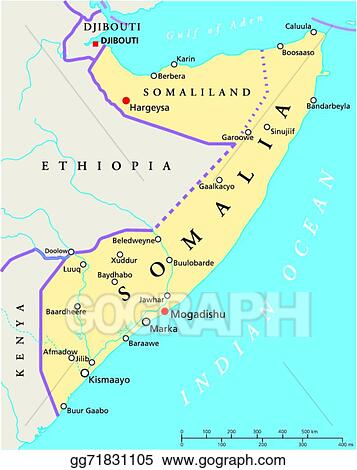 Clip Art Vector - Somalia political map. Stock EPS ...