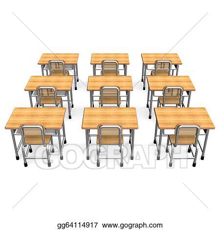 Bon Some School Desk Back View