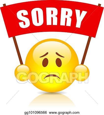 vector clipart sorry vector sign vector illustration gg101096566 rh gograph com sorry clipart black and white sorry clipart free