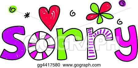 stock illustration sorry clipart drawing gg4417580 gograph rh gograph com sorry clip art free sorry clip art free