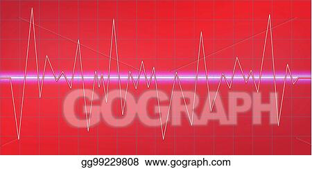 Vector Illustration - Sound waves oscillating glow, neon