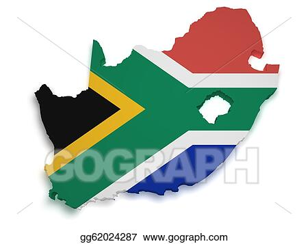 Drawing South africa map 3d shape Clipart Drawing gg62024287