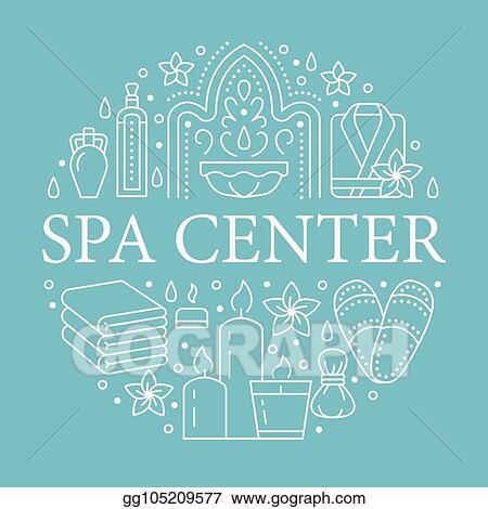 Vector Stock Spa Center Banner Illustration With Flat Line Icons Essential Oils Aromatherapy Massage Turkish Steam Bath Hamam Sauna Circle Template Thin Linear Signs Body Treatments Clipart Illustration Gg105209577 Gograph