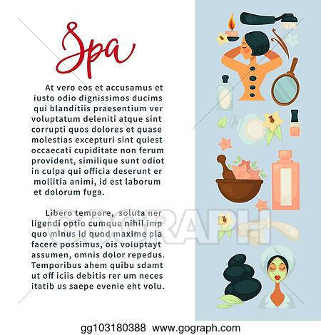 Eps Illustration Spa Services Promotional Banner With Beauty Means And Sample Text Vector Clipart Gg103180388 Gograph