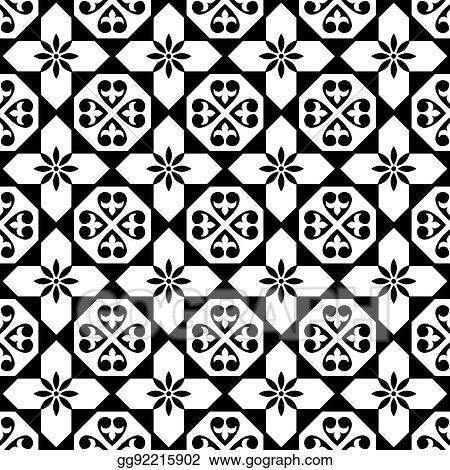 Vector Stock Spanish Tiles Pattern