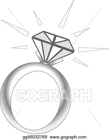 Diamond sparkle. Drawing ring clipart gg
