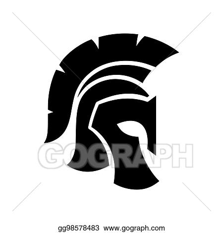 Vector Art Spartan Helmet Icon Clipart Drawing Gg98578483 Gograph
