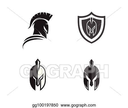 b70cedbba1992 Vector Illustration - Spartan helmet logo template. Stock Clip Art ...