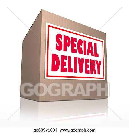 Stock Illustration Special Delivery Mailed Cardboard Box Shipment