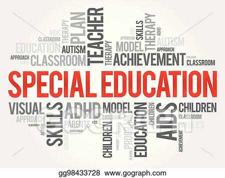Adhd And Special Education >> Vector Clipart Special Education Word Cloud Collage