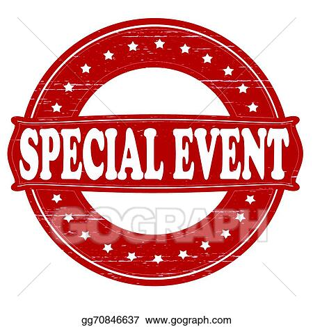 vector art special event clipart drawing gg70846637 gograph rh gograph com event planner clipart upcoming event clipart