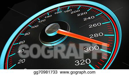 Drawing - Speedometer fast speed  Clipart Drawing gg70981733 - GoGraph
