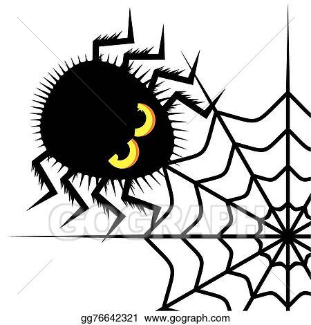 vector stock spider and cobweb clipart illustration gg76642321 rh gograph com