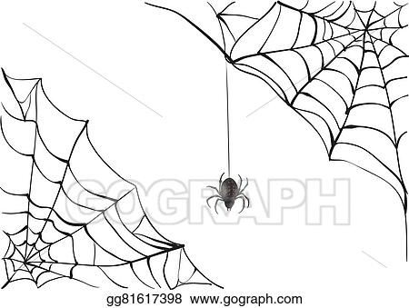 Spider web big. Eps illustration spiderweb black