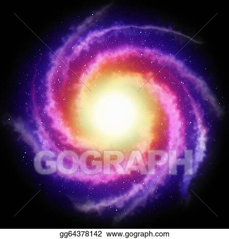 Spiral galaxy. Stock illustration background clip