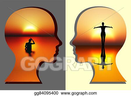 Clipart Spiritual Renewal Of Woman Stock Illustration Gg84095400