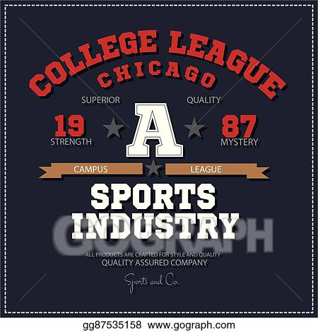4af2fb648 Sport athletic champions college league Chicago logo emblem. Vector  Graphics and typography t-shirt design for apparel.