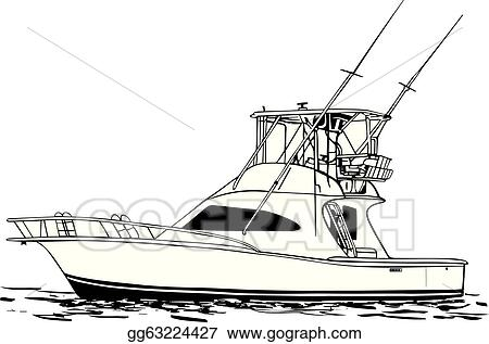 Eps Illustration Sport Fishing Boat Vector Clipart Gg63224427 Gograph