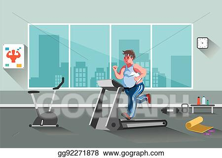 Vector illustration sport fitness man eps clipart gg