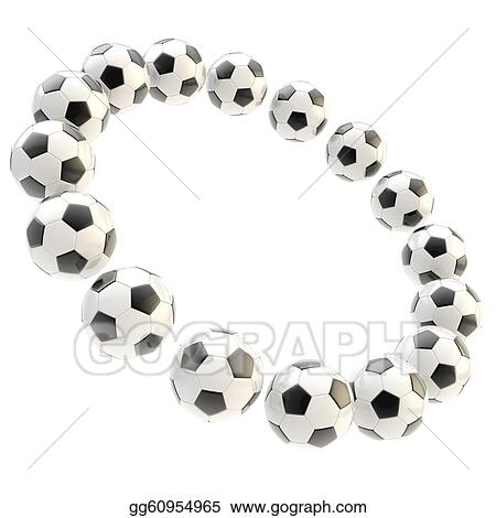 Stock Illustrations - Sport football circle frame isolated. Stock ...