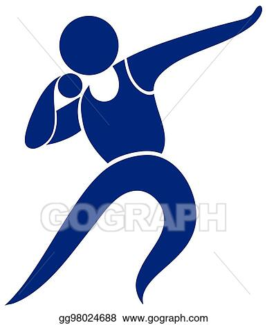 eps vector sport icon design for shot put stock clipart rh gograph com shot put and discus clipart Shot Put and Discus