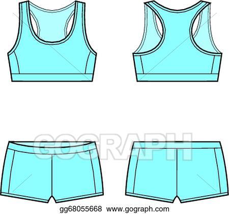 580994089fe42 Vector Illustration - Sport underwear. EPS Clipart gg68055668 - GoGraph
