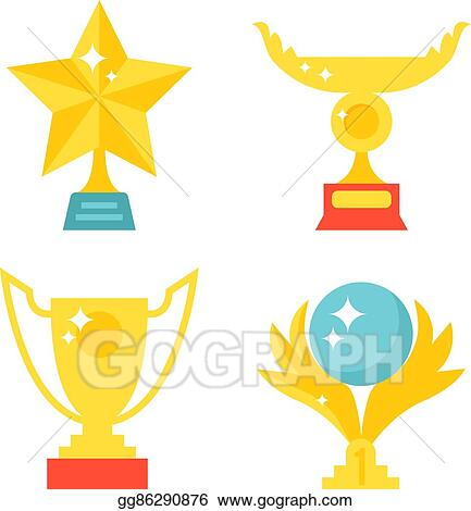 Medals and trophies Clipart | k17456661 | Fotosearch
