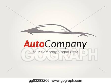 Vector Stock Sportscar Vehicle Logo Silhouette Clipart