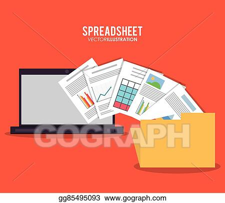 Vector Art - Spreadsheet design, business and infographic concept
