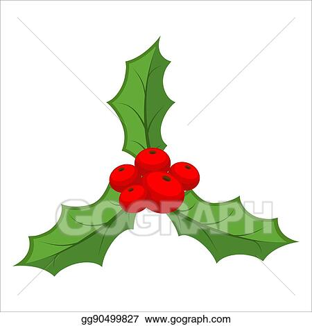 eps illustration sprig of mistletoe isolated traditional