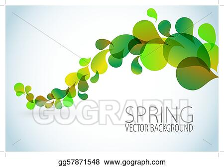 Vector Art Spring Abstract Floral Background Eps Clipart