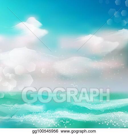 Clip Art Watercolor Wave Png - Transparent Background Ocean Clipart, Png  Download - kindpng