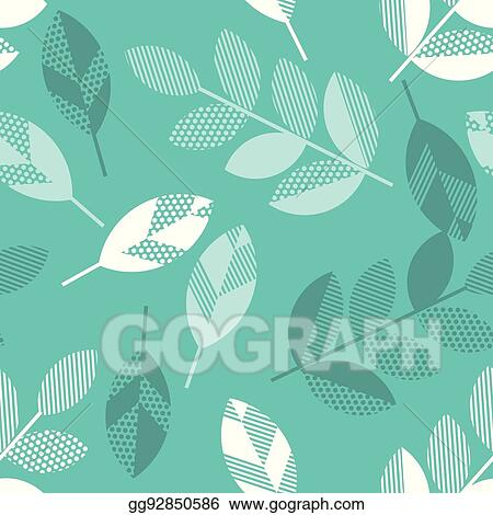 Eps Vector Spring Floral Seamless Pattern With Leaves