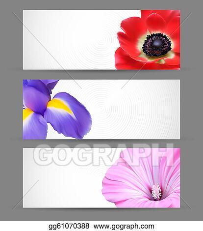 Vector Stock Spring Flowers Background Design For Banner