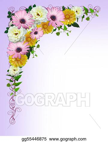 Drawing spring flowers border template clipart drawing gg55446875 spring flowers border template mightylinksfo