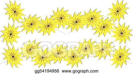 Eps vector spring flowers border stock clipart illustration spring flowers border mightylinksfo